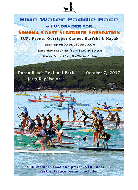 THE 6TH ANNUAL BLUE WATER PADDLE RACE @ Doran Beach