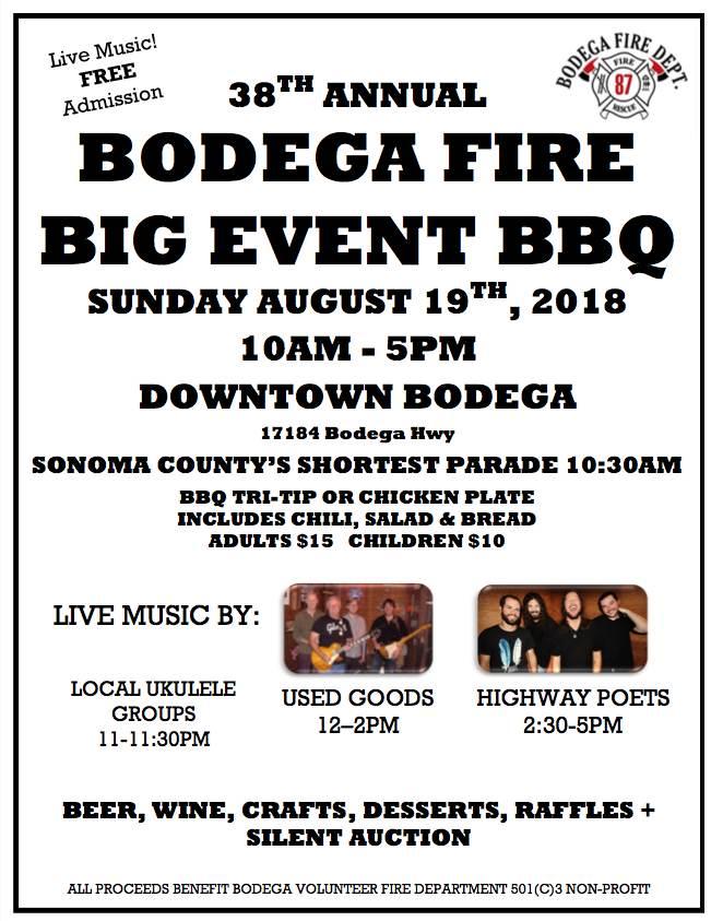 Bodega Fire Big Event BBQ @ Bodega, CA