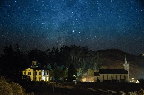 Milky Way Over Bodega Schoolhouse Amp Church The Official