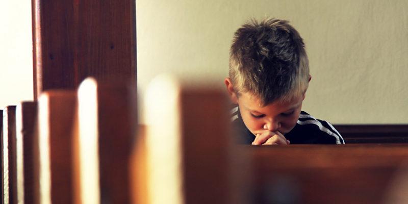 Boy is praying